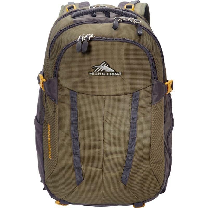 ハイシエラ メンズ バックパック・リュックサック バッグ Sweetridge Crossover Backpack-eBags Exclusive Olive/Mercury/Gold