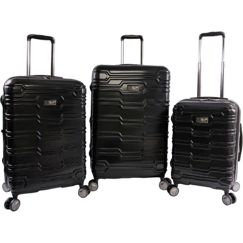 オリジナルペンギン メンズ スーツケース バッグ Collins 3 Piece Set Expandable Suitcase with Spinner Wheels Black