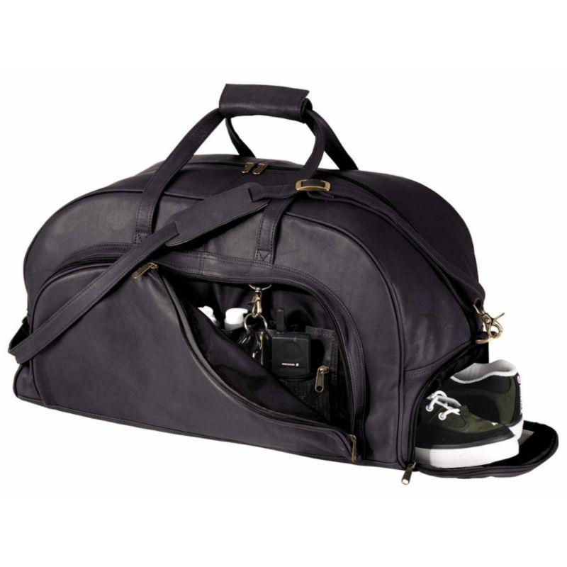 ロイスレザー メンズ スーツケース バッグ Organizer Duffel W/Shoe Compartment Black