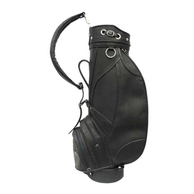 ピエール メンズ ボストンバッグ バッグ Deluxe 9 Leather Golf Bag Black