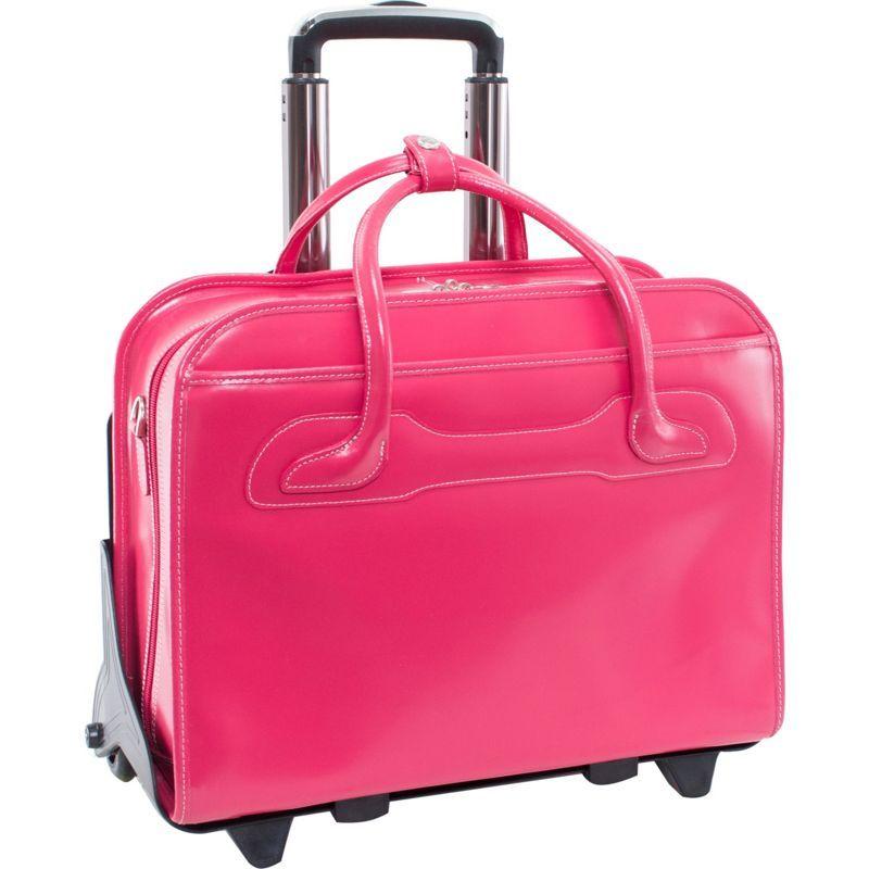マックレイン レディース スーツケース バッグ W Series Willowbrook Leather Detachable Wheeled Women's Laptop Case Fuchsia