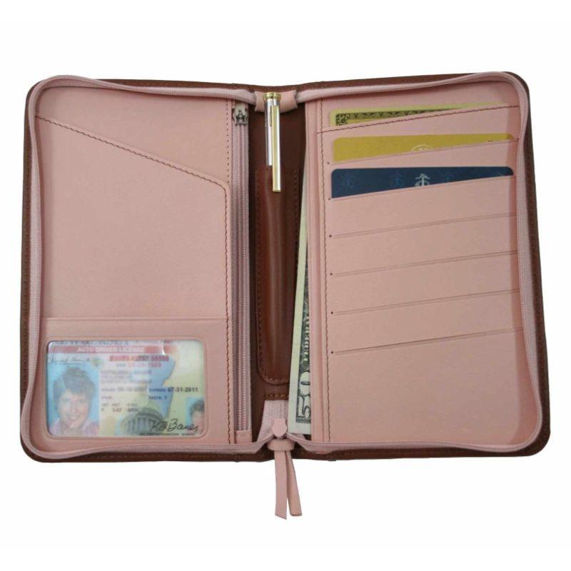 ロイスレザー メンズ 財布 アクセサリー Passport Travel Wallet Tan
