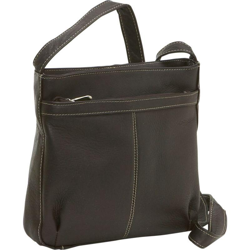 ルドネレザー メンズ ボディバッグ・ウエストポーチ バッグ Shoulder Bag w/Exterior Zip Pocket Cafe