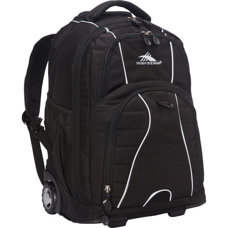 ハイシエラ メンズ バックパック・リュックサック バッグ Freewheel Rolling Backpack Black