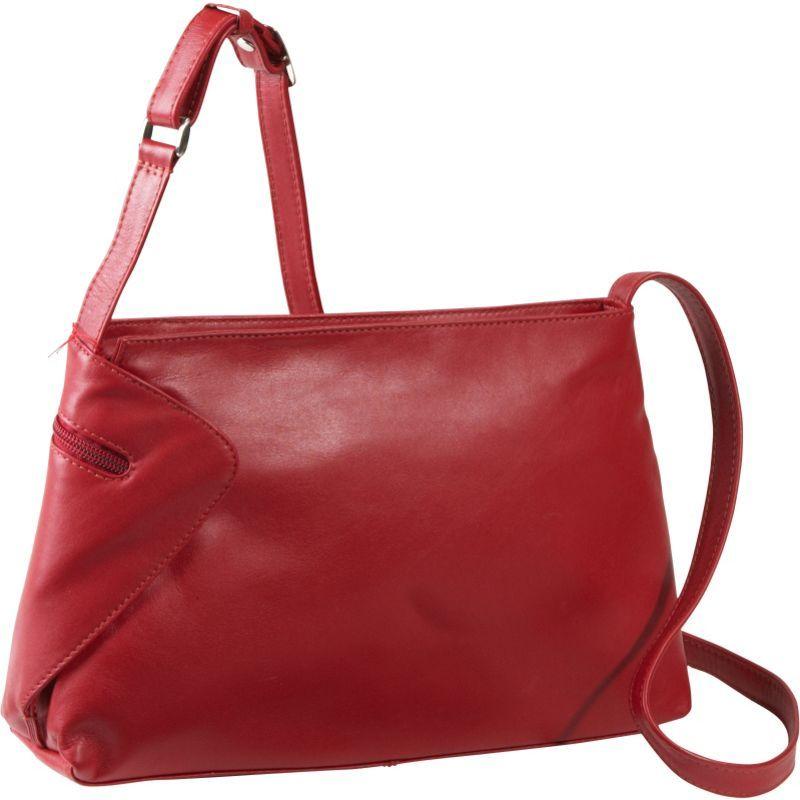 デレクアレクサンダー メンズ ショルダーバッグ バッグ EW Top Zip With Gusset Detail Red