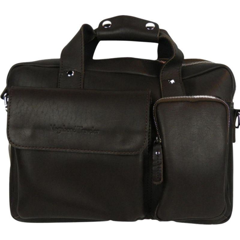 ヴァガボンドトラベラー メンズ スーツケース バッグ Leather Casual Style B'Room Laptop Bag Dark Brown
