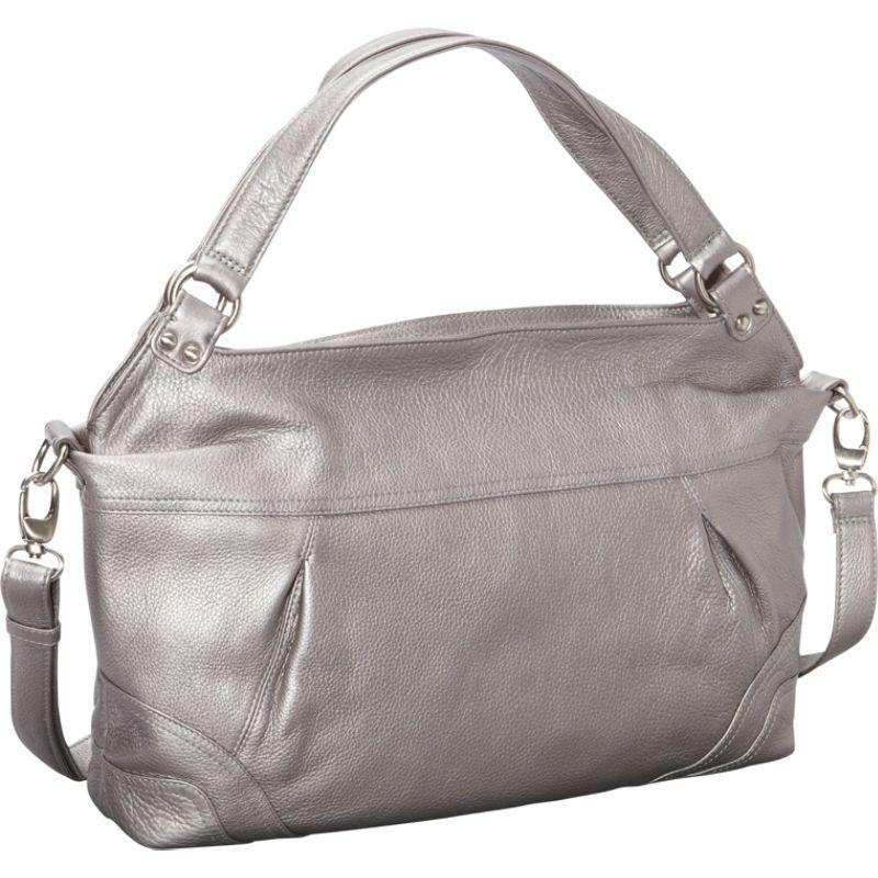 デレクアレクサンダー メンズ ショルダーバッグ バッグ EW Top Zip Shoulder Bag Silver