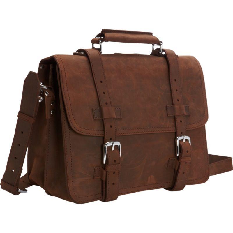ヴァガボンドトラベラー メンズ スーツケース バッグ 16 Heavy Duty Sport Briefcase & Book Backpack Distress