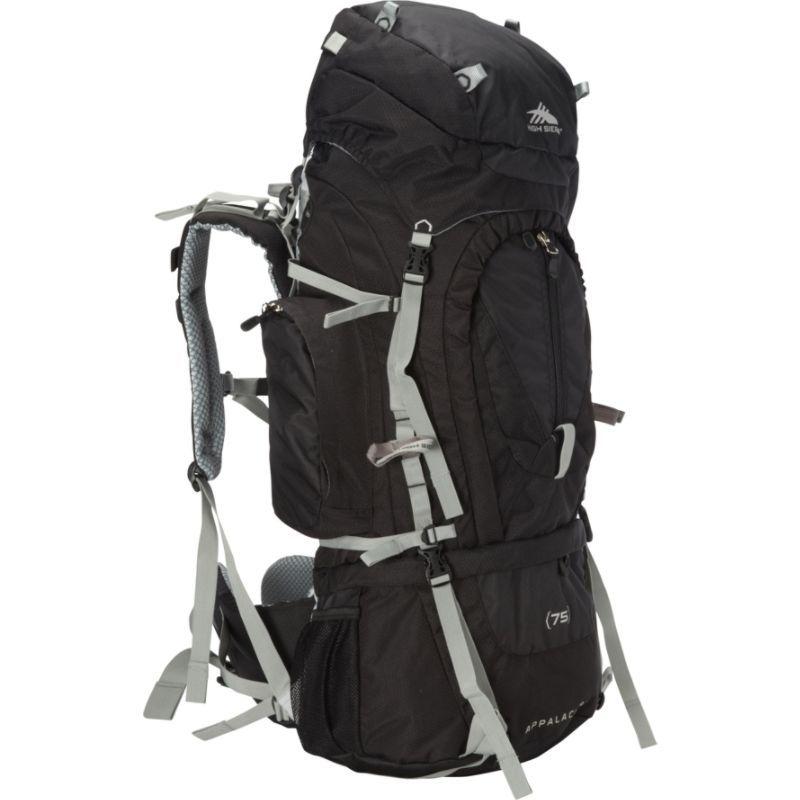 ハイシエラ メンズ バックパック・リュックサック バッグ Appalachian 75 Backpacking Pack Black/Black/Silver