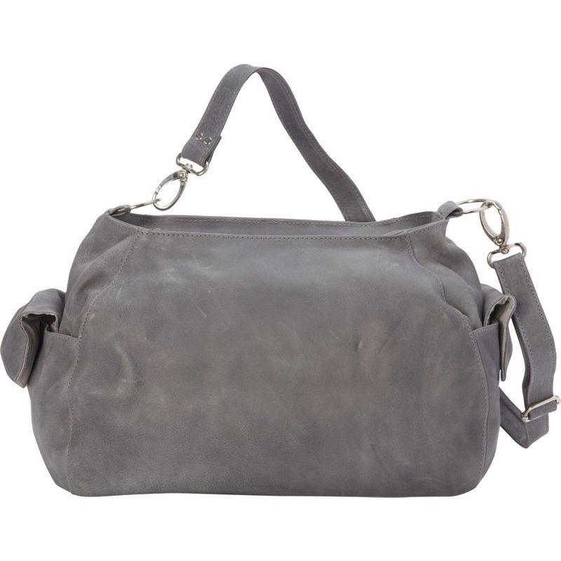 ピエール メンズ ショルダーバッグ バッグ Top-Zip Shoulder Bag/Cross Body Hobo Charcoal