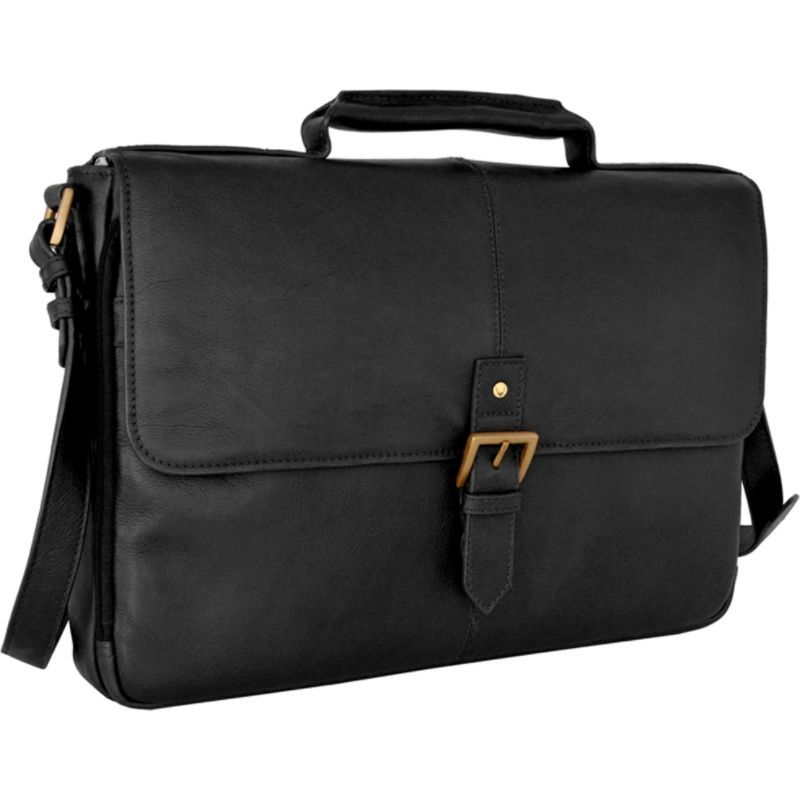ハイデザイン メンズ スーツケース バッグ Charles Leather 15 Laptop Compatible Briefcase Work Bag Black