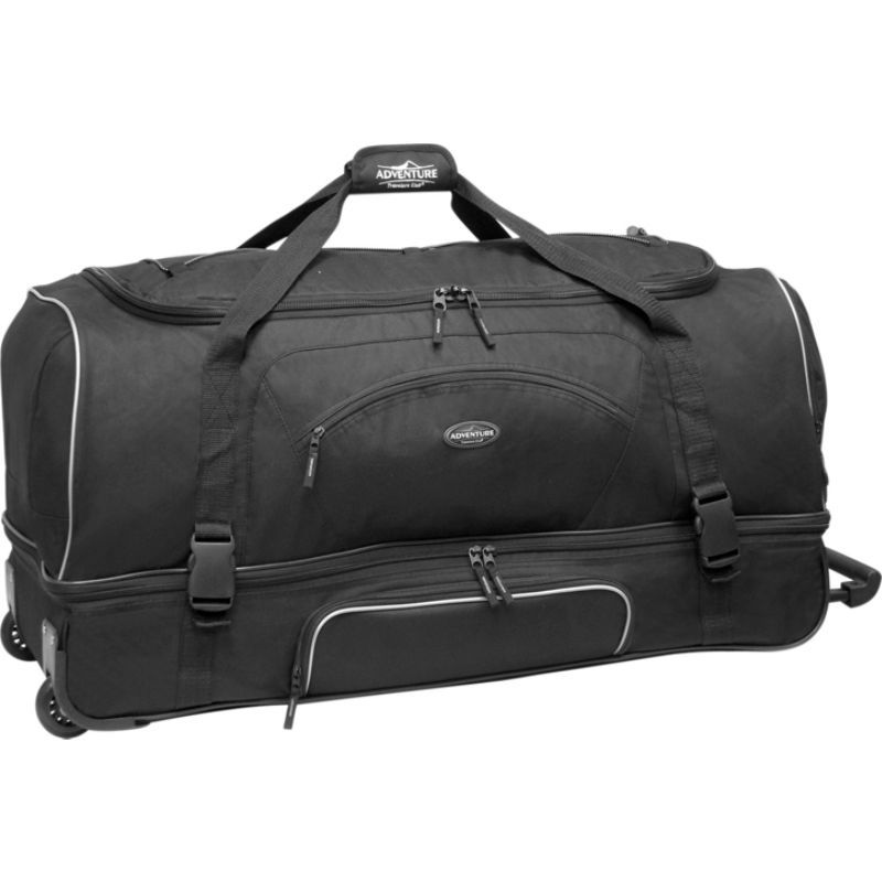 トラベラーズクラブ メンズ スーツケース バッグ Adventure 30 Rolling 2-Tone Multi-Pocket Large Packing Capacity Duffel Black