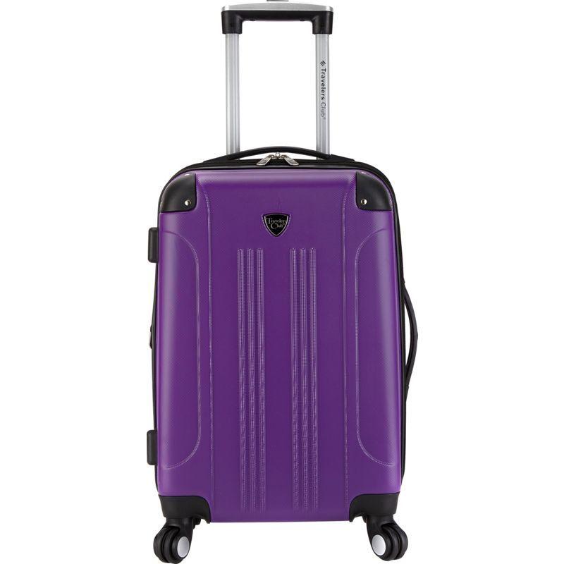 【お買い得!】 トラベラーズクラブ メンズ スーツケース バッグ Carry-On Chicago 20 Spinner Hardside Exp. Spinner バッグ Carry-On Purple, 福袋:9230e7b3 --- dondonwork.top