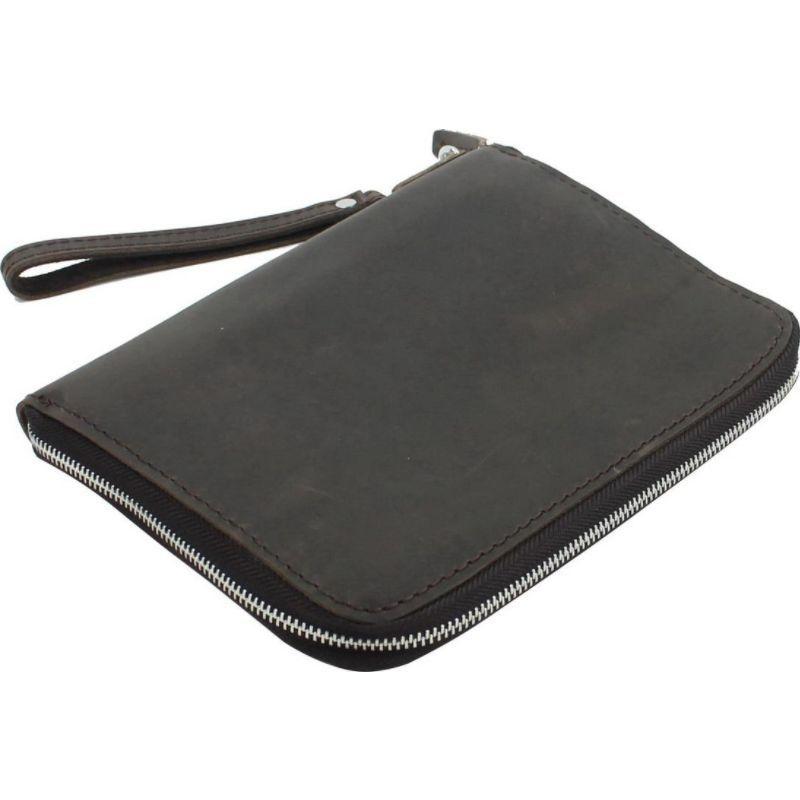 ヴァガボンドトラベラー メンズ PC・モバイルギア アクセサリー 9 Leather iPad mini Clutch Case Business Folder Dark Brown