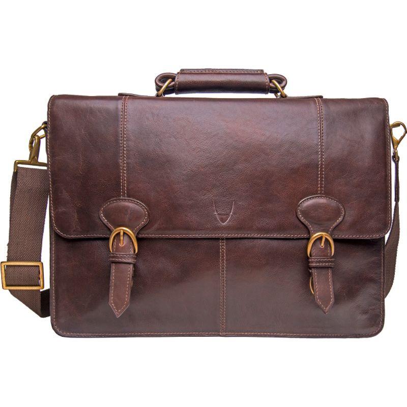 ハイデザイン メンズ スーツケース バッグ Parker Large Briefcase Brown