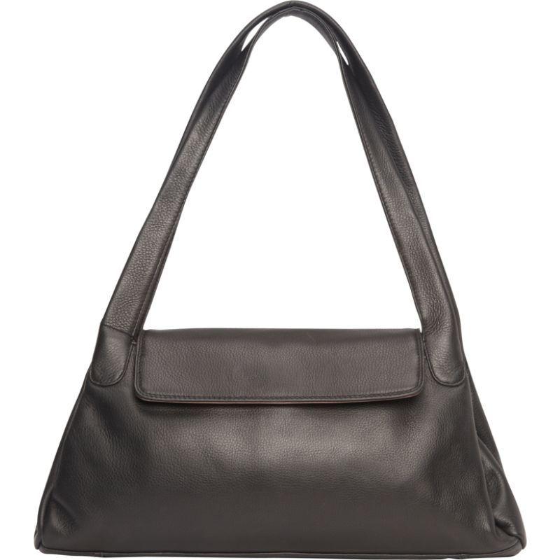 デレクアレクサンダー メンズ ショルダーバッグ バッグ Top Zip w/ 1/4 Flap, Twin Handle Shoulder Bag Black/Bronze
