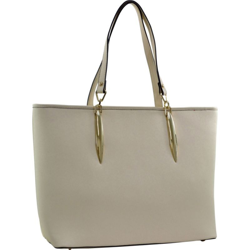 ダセイン メンズ トートバッグ バッグ Large Saffiano Faux Leather Tote with Minimal Accent Hardware Beige