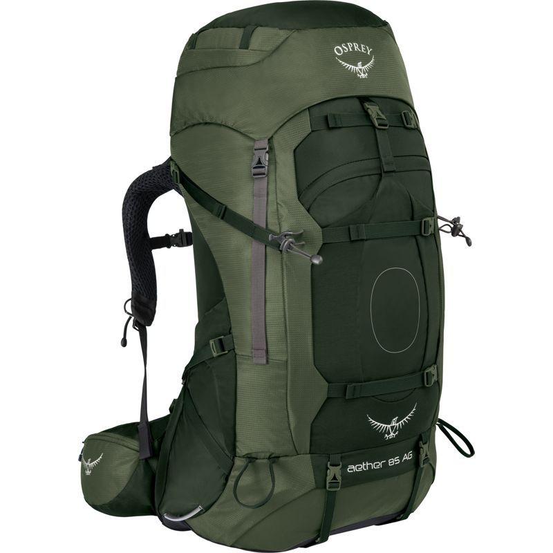 オスプレー メンズ バックパック・リュックサック バッグ Aether AG 85 Hiking Pack Adriondack Green MD