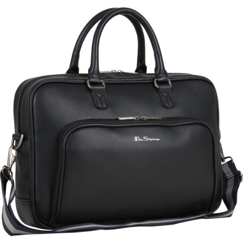 ベンシャーマン メンズ スーツケース バッグ Bowen Road Single Compartment Top Zip 15.0 Laptop Business Portfolio Black