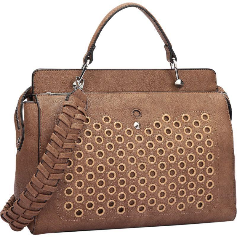 ダセイン メンズ ショルダーバッグ バッグ Designer Holes and Weave Strap Shoulder Bag Brown