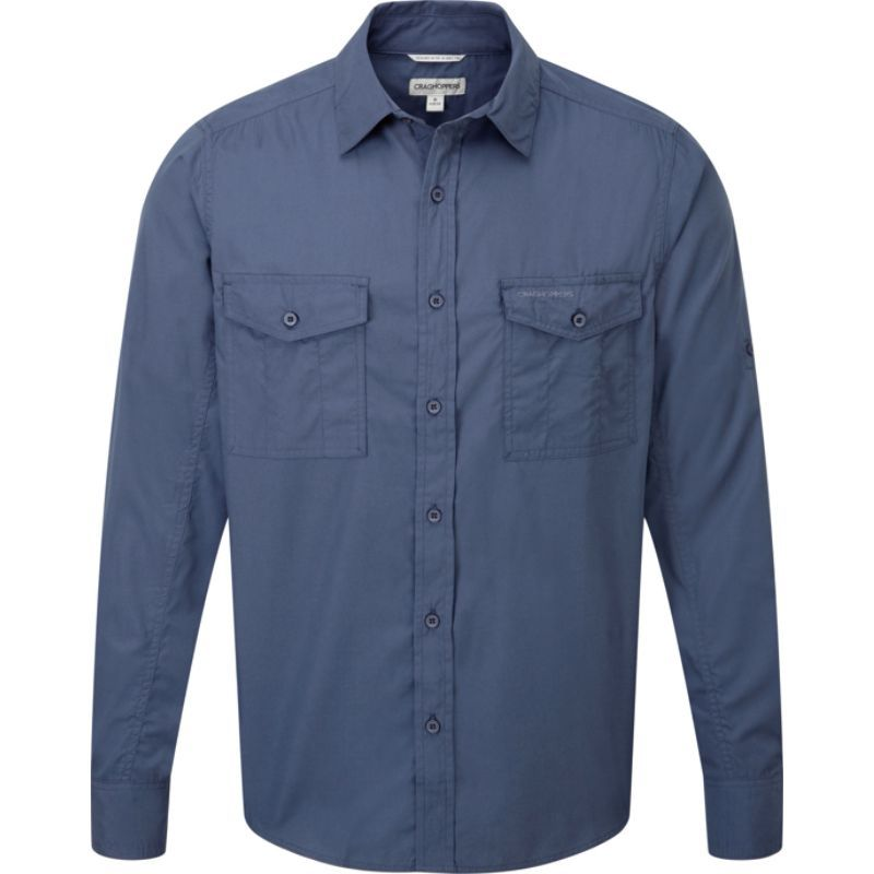 クラッグホッパーズ メンズ シャツ トップス Kiwi Long Sleeve Shirt Faded Indigo