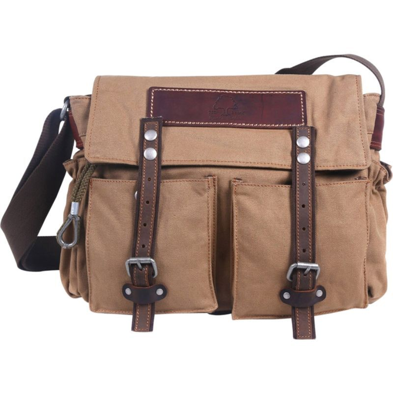 ティエスディー メンズ ショルダーバッグ バッグ Hidden Woods Canvas Messenger Bag Brown