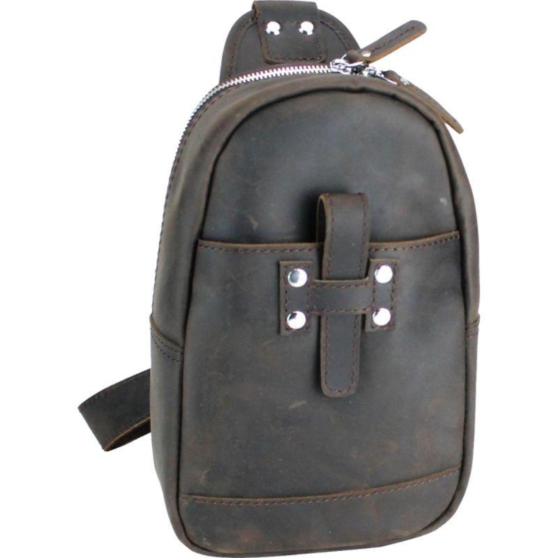 ヴァガボンドトラベラー メンズ ショルダーバッグ バッグ Leather Chest Pack Travel Companion Dark Brown