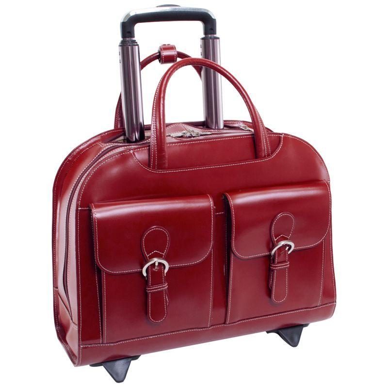 マックレイン メンズ スーツケース バッグ Davis Leather 15.4 Wheeled Ladies' Laptop Case Red, ミナミアリマチョウ:360e5e96 --- roots66.jp