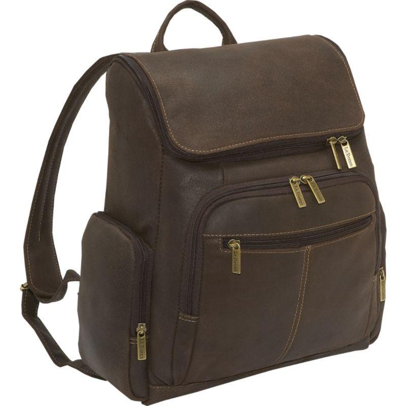 ルドネレザー メンズ スーツケース バッグ Distressed Leather Computer Backpack Chocolate