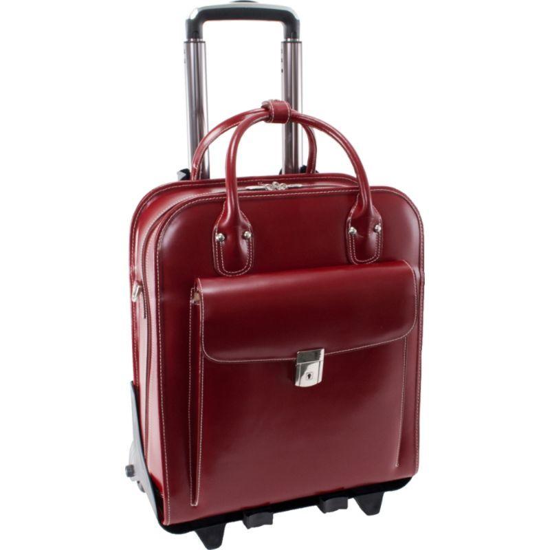 マックレイン メンズ スーツケース バッグ W Series La Grange Leather Vertical Detachable-Wheeled Ladies' Briefcase Red