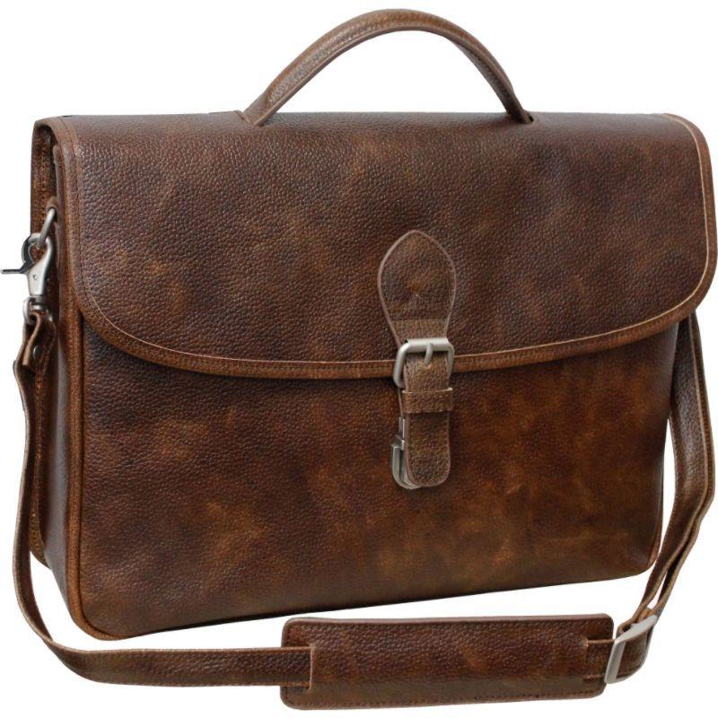 アメリ メンズ スーツケース バッグ Montana Leather Executive Briefcase Brown