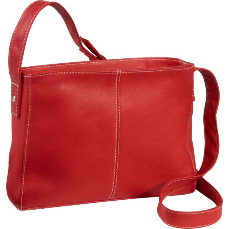 ルドネレザー メンズ ボディバッグ・ウエストポーチ バッグ Top Zip Crossbody Bag Red