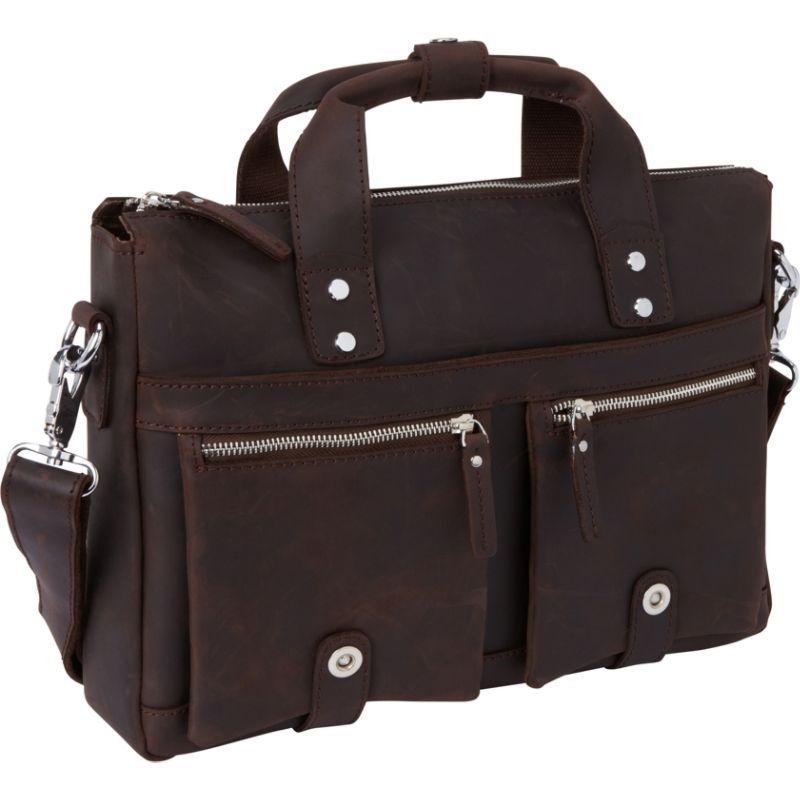 ヴァガボンドトラベラー メンズ スーツケース バッグ 15 TREKKER CLassic Leather Brief Dark Brown