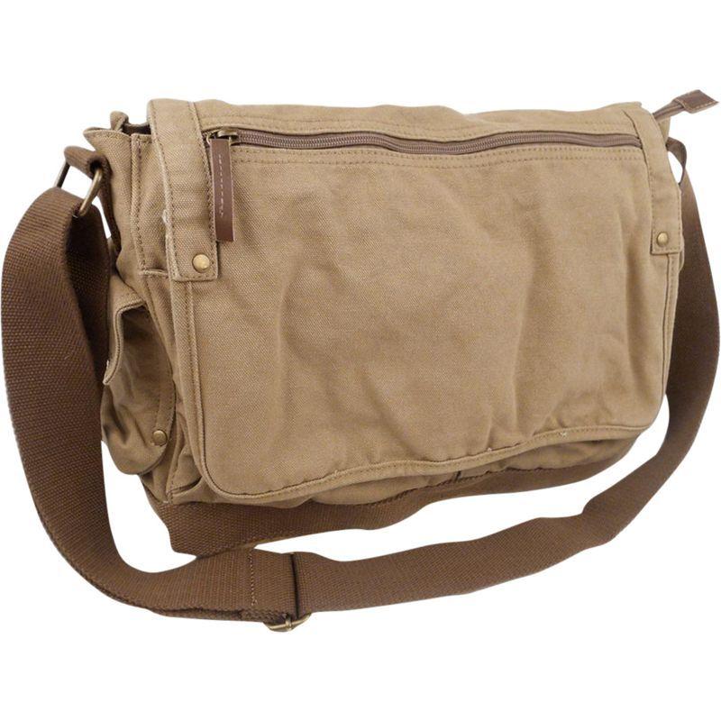 ヴァガボンドトラベラー メンズ ショルダーバッグ バッグ Casual Style Canvas Messenger Bag Khaki