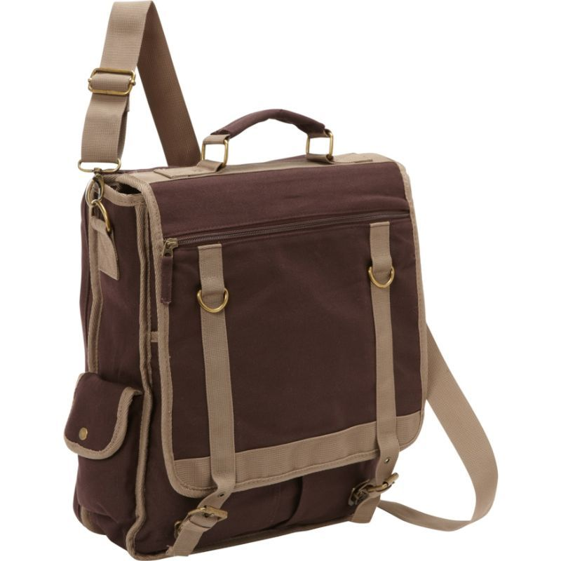ベリノ メンズ スーツケース バッグ Expresso Vertical Laptop Canvas Brief - Checkpoint Friendly Brown