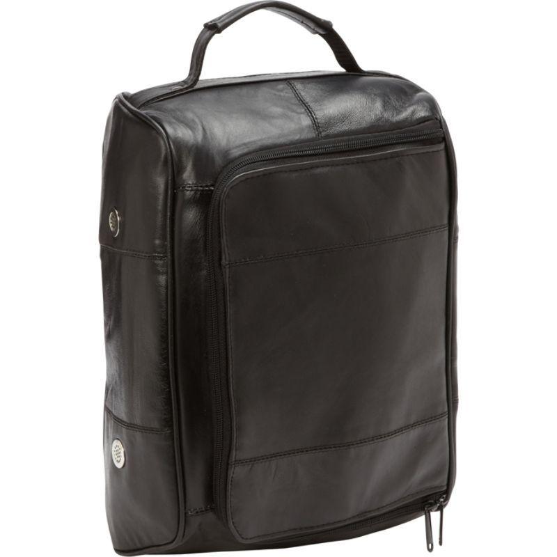 ベリノ メンズ ボストンバッグ バッグ Leather Golf Shoe Bag Black