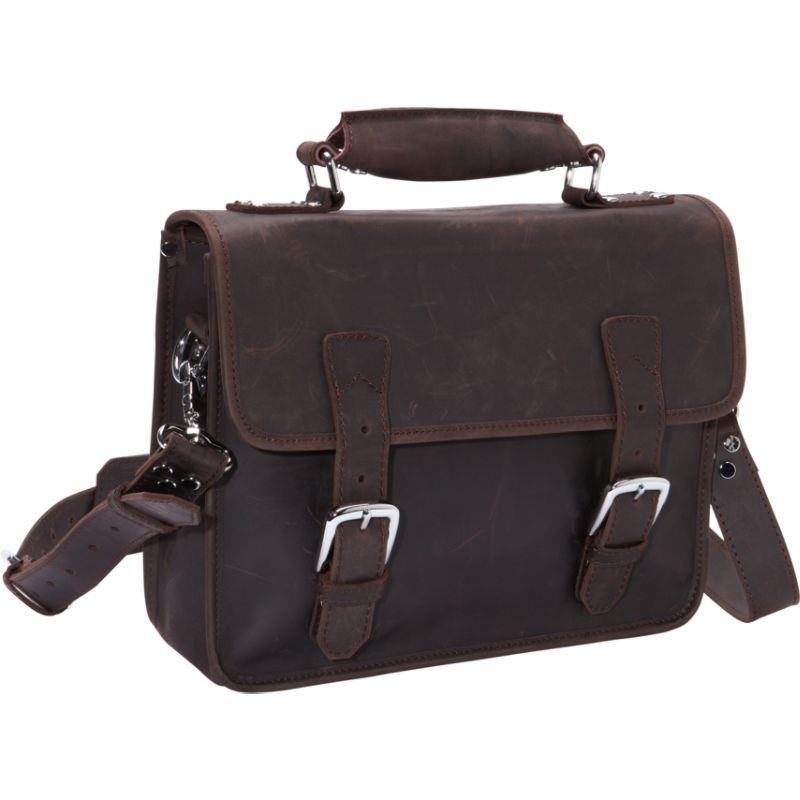 ヴァガボンドトラベラー メンズ スーツケース バッグ Cowhide Leather Messenger Laptop Bag Dark Brown