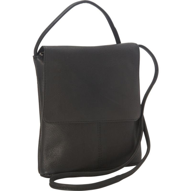 ロイスレザー メンズ ボディバッグ・ウエストポーチ バッグ Vaquetta Small Flap Over Crossbody Bag Black 36