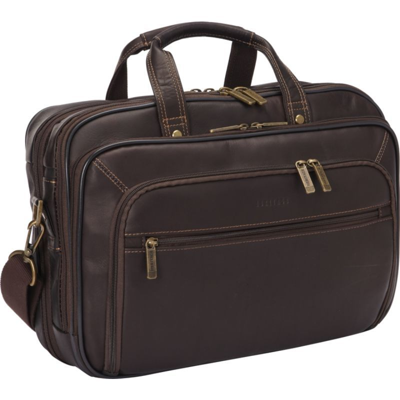 ヘリテージ メンズ スーツケース バッグ Colombian Leather Checkpoint-Friendly Briefcase Brown