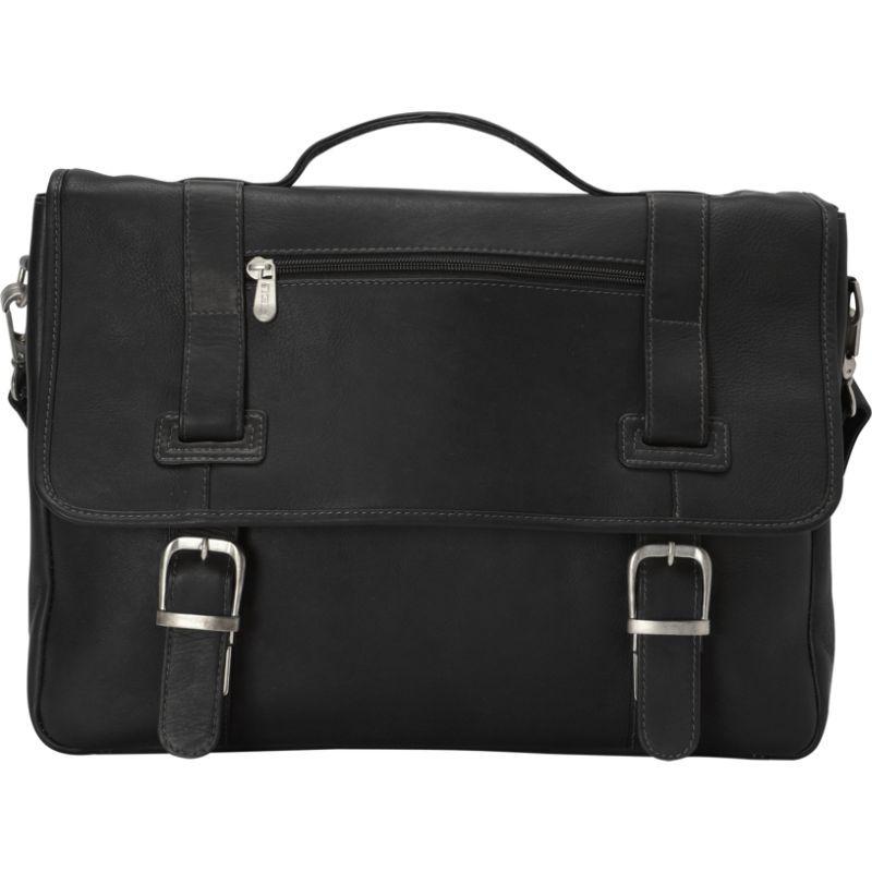 ピエール メンズ スーツケース バッグ Flap-Over Soft Sided Briefcase Black