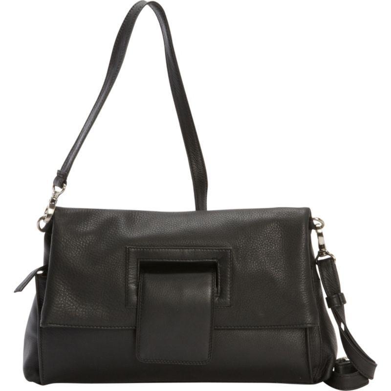 デレクアレクサンダー メンズ ボディバッグ・ウエストポーチ バッグ Envelope Flap Crossbody Handbag  Black
