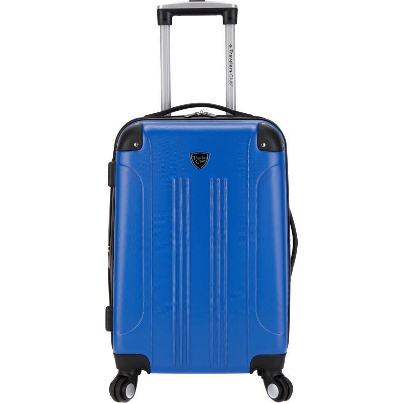 トラベラーズクラブ メンズ スーツケース バッグ Chicago 20 Hardside Exp. Spinner Carry-On Royal Blue
