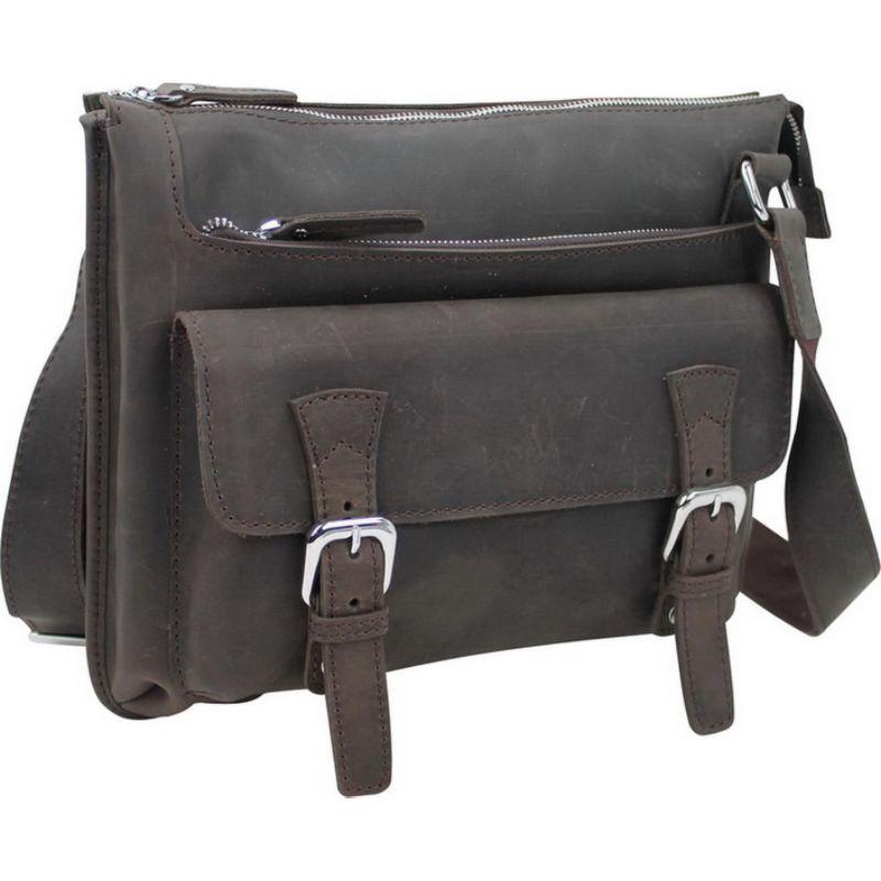 ヴァガボンドトラベラー メンズ ショルダーバッグ バッグ 12.5 Leather Messenger Shoulder Bag Dark Brown