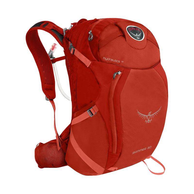 オスプレー メンズ バックパック・リュックサック バッグ Skimmer 30 Hiking Backpack Coral Orange - S/M