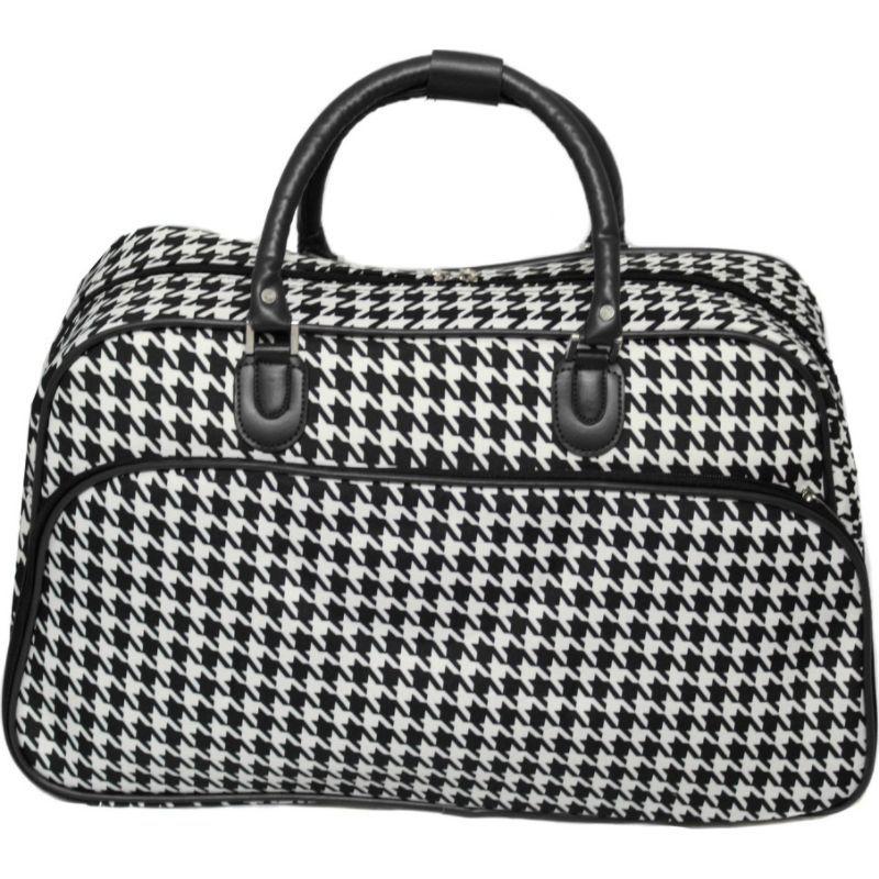 ワールドトラベラー メンズ スーツケース バッグ Houndstooth 21 Carry-On Duffel Bag Black Trim Houndstooth