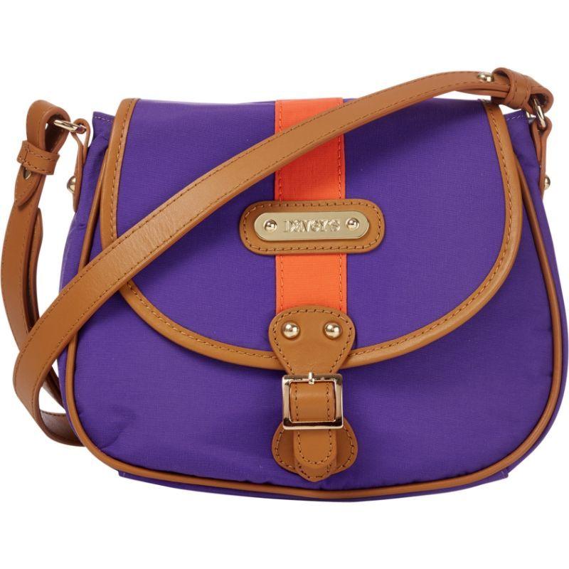 ダベイズ メンズ ボディバッグ・ウエストポーチ バッグ Crossbody Stripe Saddlebag Purple/Orange Stripe