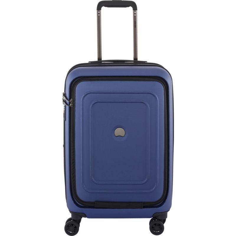 デルシー メンズ スーツケース バッグ Cruise Lite Hard 21 Carry On Exp. Spinner Trolley with Front Pocket Blue