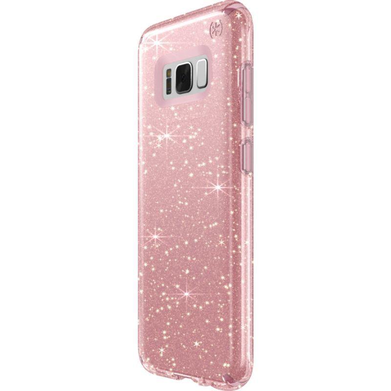 スペック メンズ PC・モバイルギア アクセサリー Presido Clear + Glitter Samsung Galaxy S8+ Case Gold Glitter/Rose Pink
