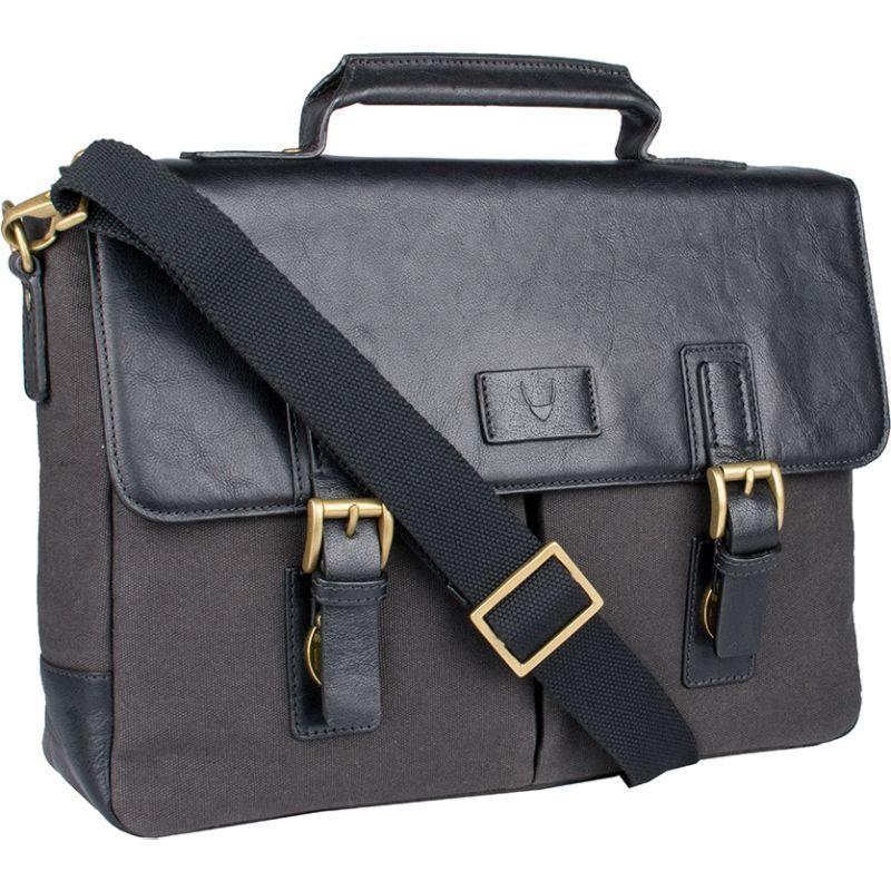 ハイデザイン メンズ スーツケース バッグ Bedouin Medium Canvas and Leather Briefcase Black