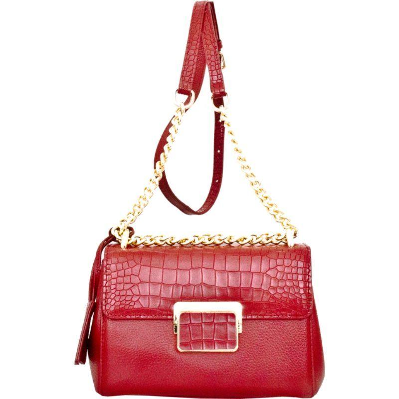 レザーベイ メンズ ショルダーバッグ バッグ Masio Shoulder Bag Dark Red